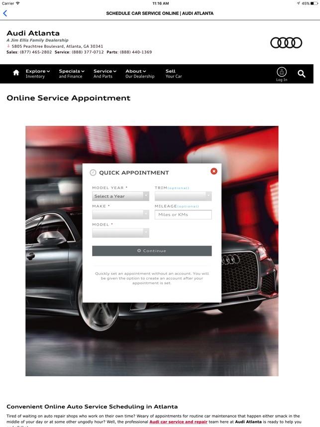 Audi Atlanta On The App Store - Jim ellis audi atlanta