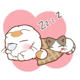 Chubby Cat & Thin Cat Sticker