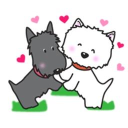 Cute Westie White Dog Sticker