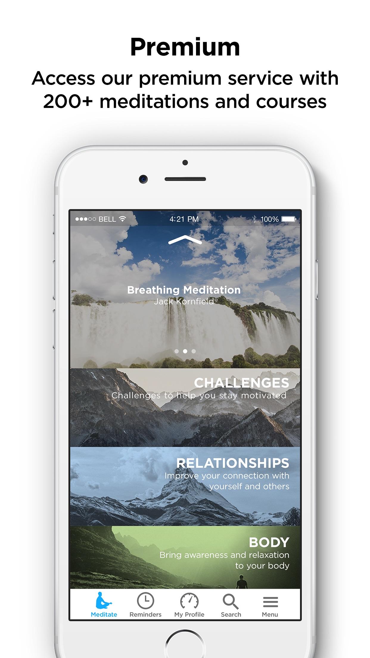 The Mindfulness App - meditate Screenshot