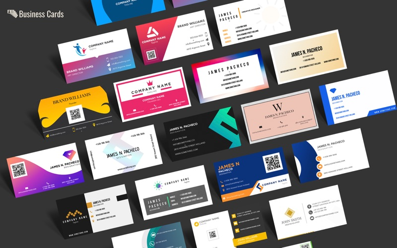 Icard business card templates app mobile apps icard business card templates wajeb Images