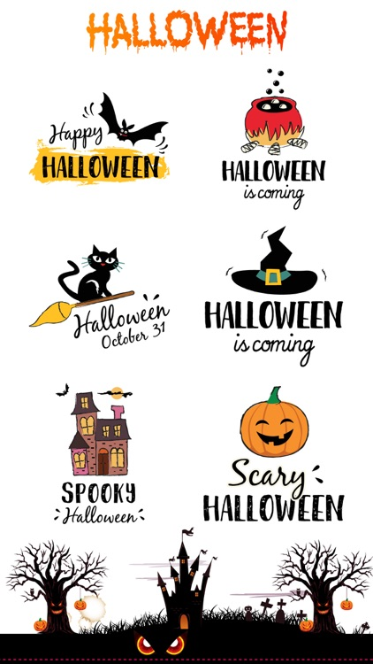 Halloween Party 100+ Stickers