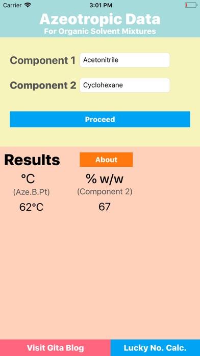 Azeotropic Data screenshot 4
