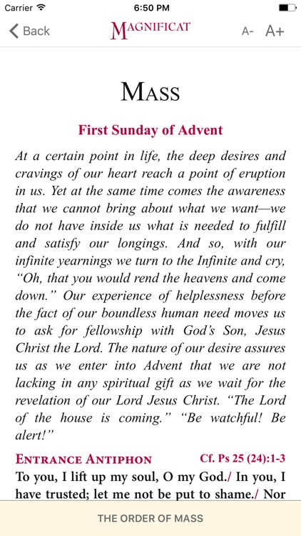 Magnificat Advent 2017