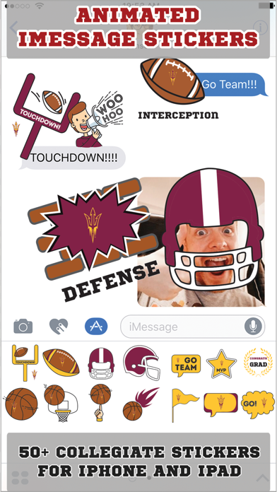 Arizona State Sun Devils Animated+Stickers screenshot two