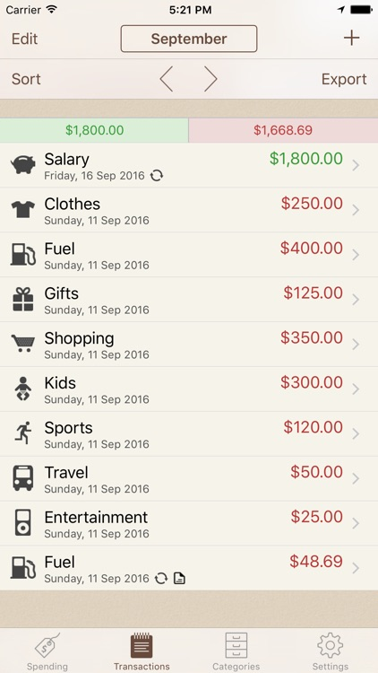 Spending Tracker screenshot-1