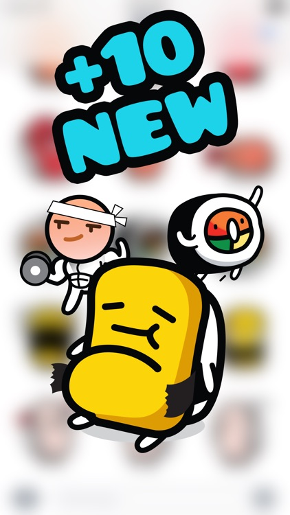 Sushi Land Animated Stickers Pack for iMessage screenshot-3