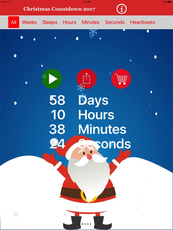 screenshot 1 for christmas countdown 2017 timer