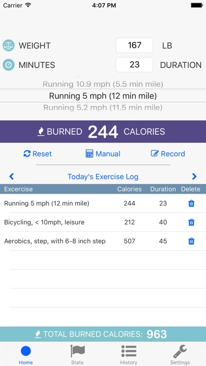 exercise calorie calculator with tracker by matthew rohr