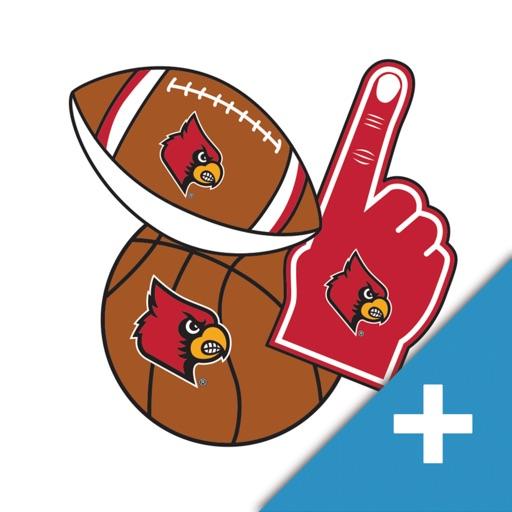 Louisville Cardinals PLUS Selfie Stickers