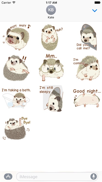 Shy And Cute Hedgehogs Sticker