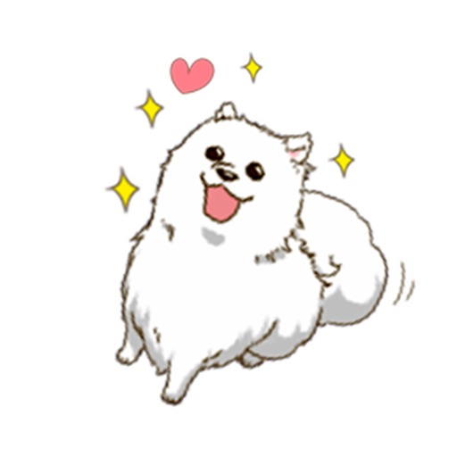 Laika The Samoyed Dog Sticker icon