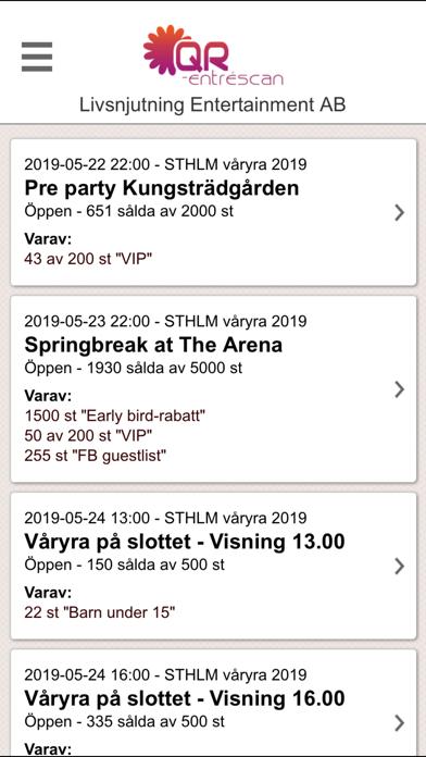 Biljettkiosken QR-entré screenshot two