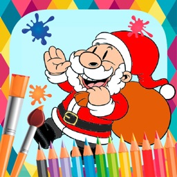 Christmas paint coloring book