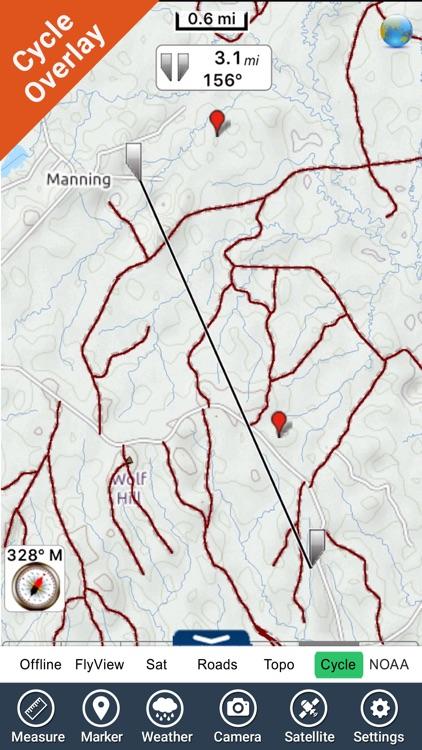 Angelina National Forest - GPS Map Navigator screenshot-3