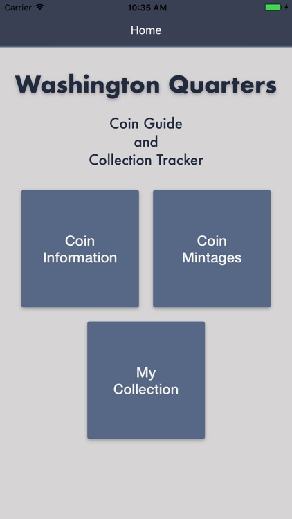 Washington Quarters- Coin Guide Collection Tracker