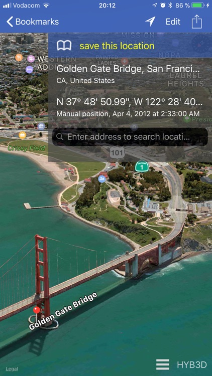 GPS location 3D/flyover