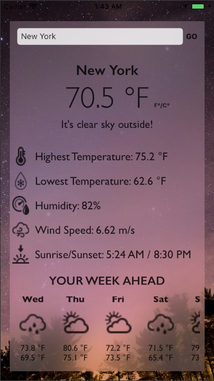 Simple Weather and Forecast