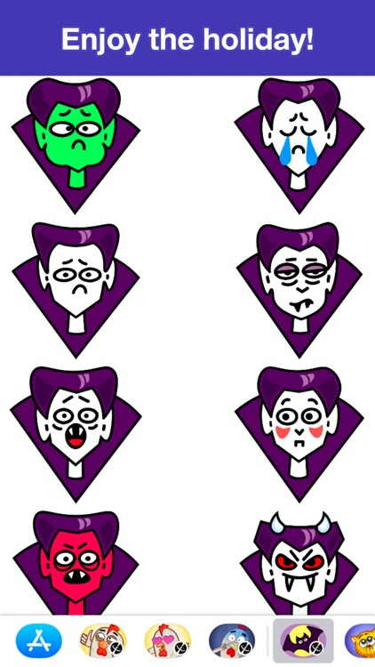 Dracula - Halloween stickers screenshot-3
