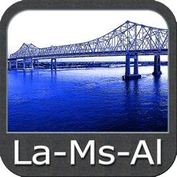 Louisiana Miss. Alabama Charts