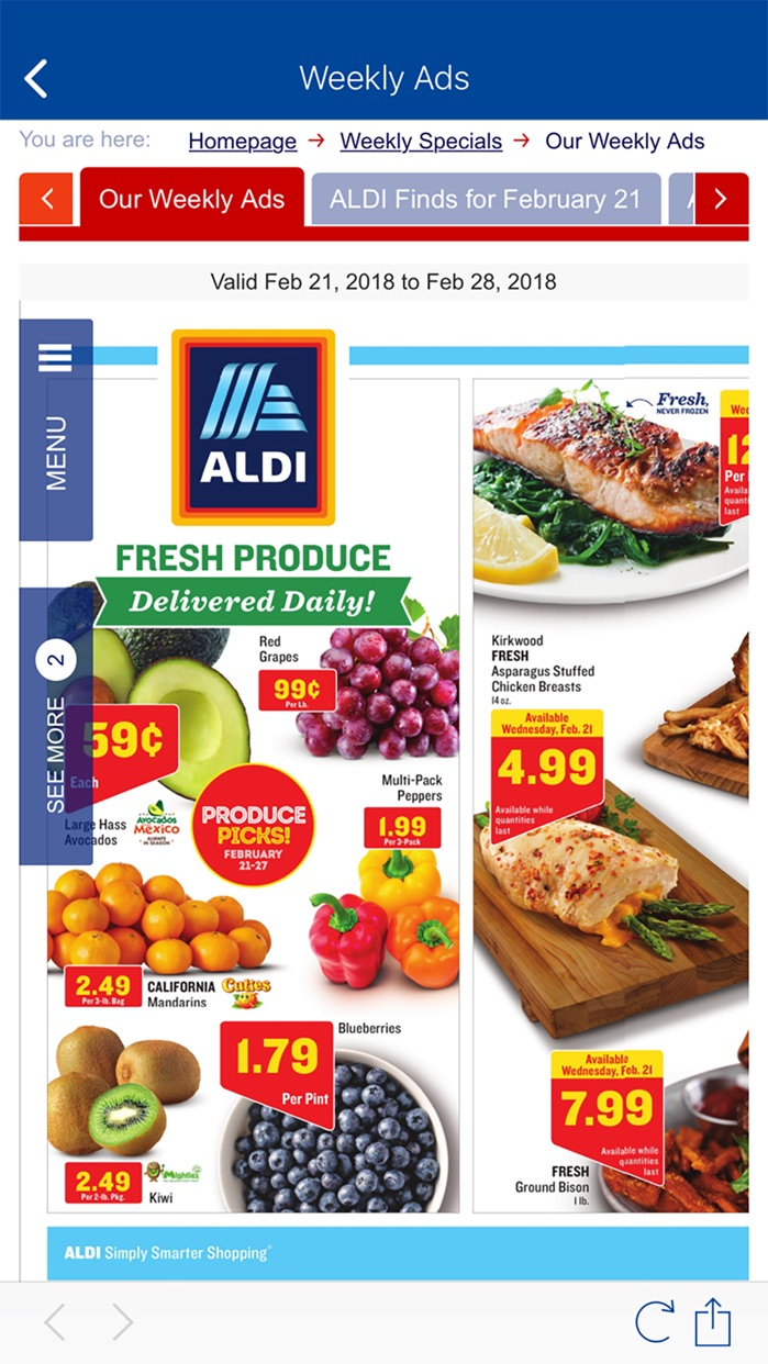 ALDI USA Screenshot