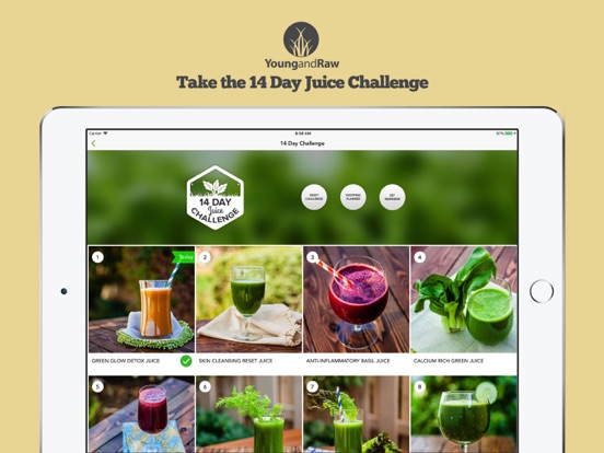 Juice Challenge by Young & Raw   App Price Drops