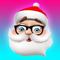3D Santa Stickers