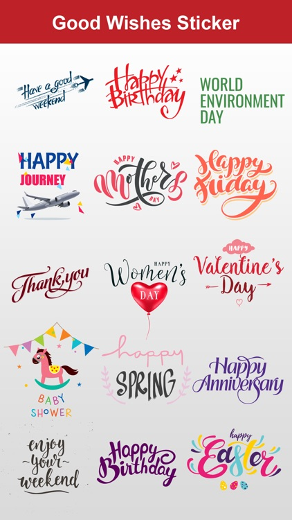 Wishes Stickers Pack for iMessage