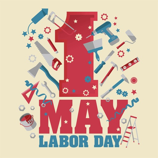 Happy Labour Day - 1st May icon
