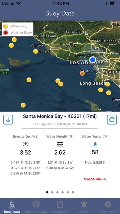 NOAA Marine Weather Forecast Screenshot
