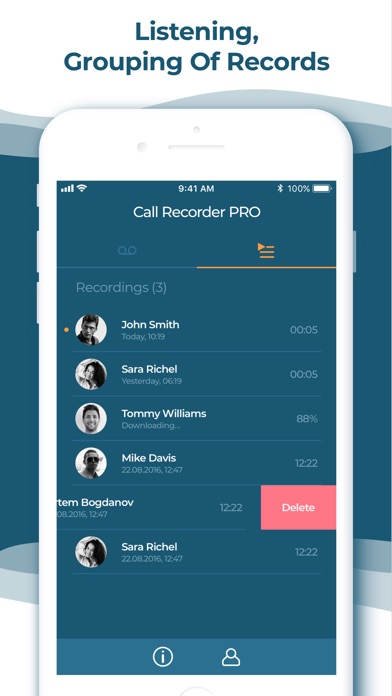 Call Recorder App for iPhone Screenshot