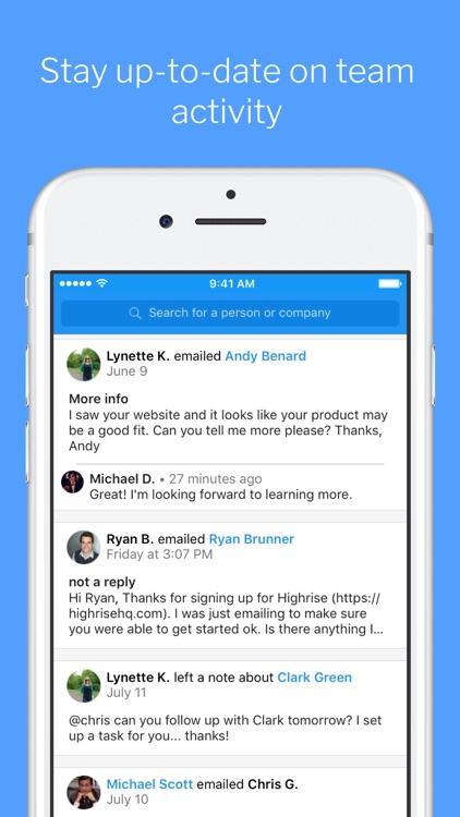 Highrise - Simple CRM screenshot-4