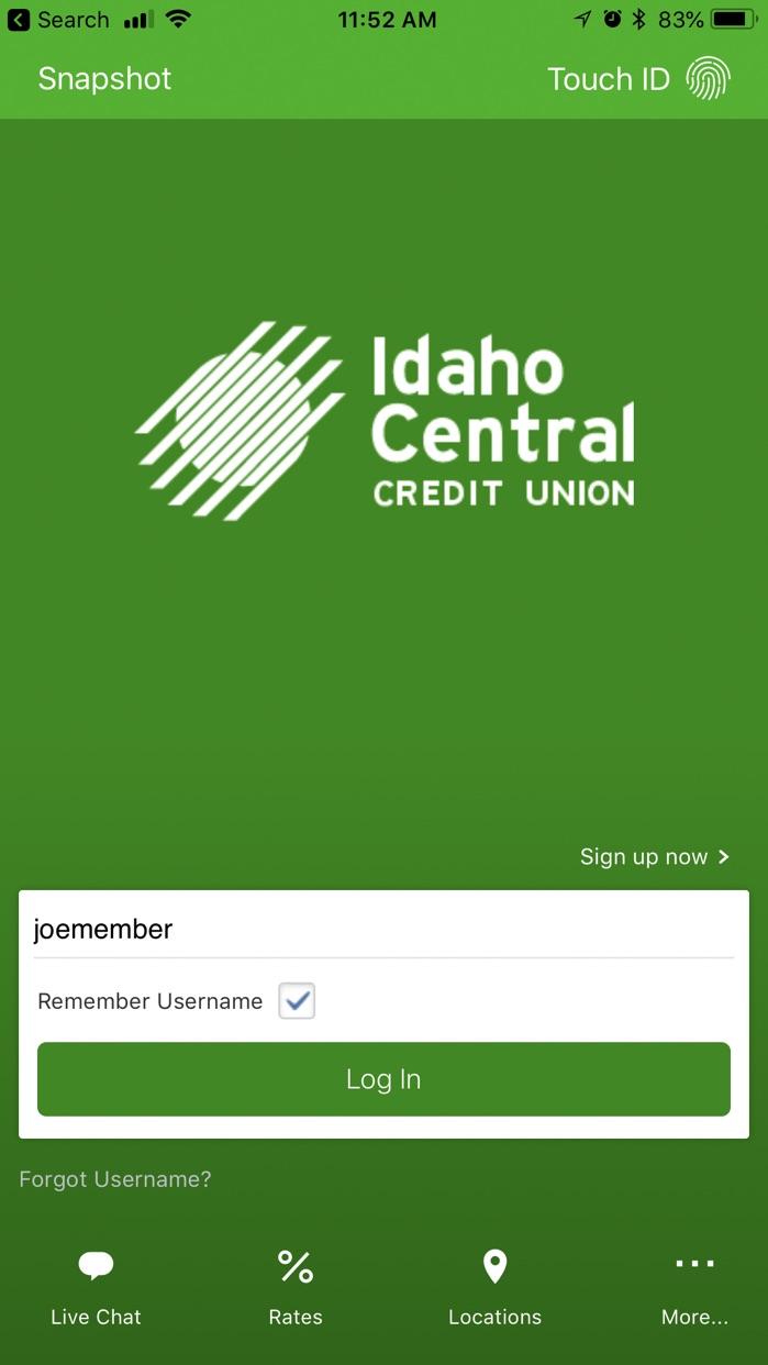 ICCU Mobile Banking Screenshot