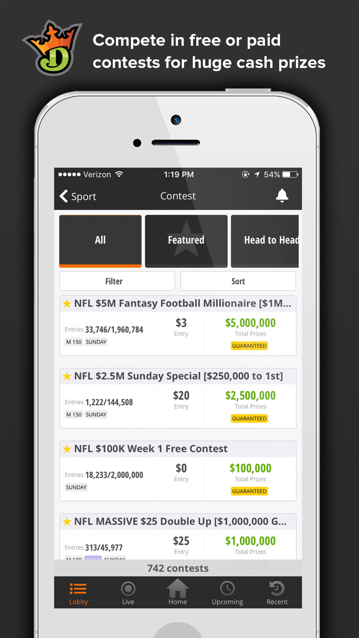 DraftKings - Fantasy Sports Screenshot