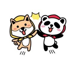 Cute Fox And Funny Bear