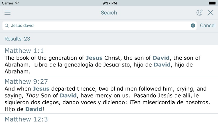 Spanish English Bible - Biblia screenshot-3