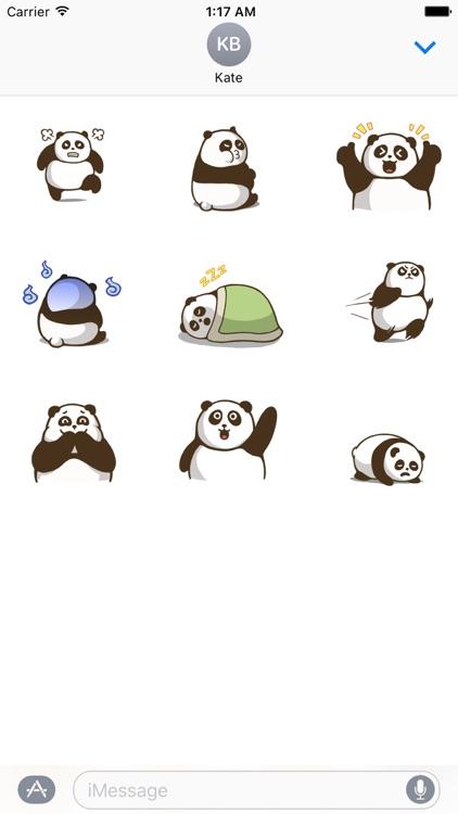 Animated Chubby Panda Sticker