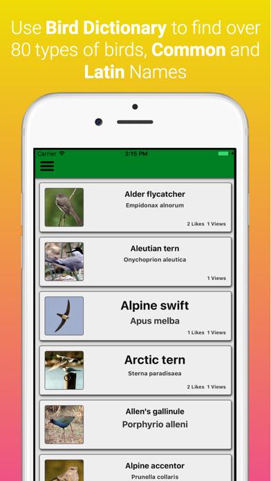 UK Birds Dictionary Pro screenshot one