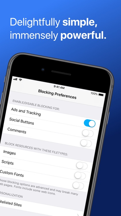 Purify: Block Ads and Tracking screenshot-3