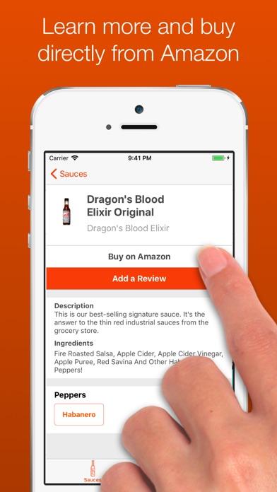 The Hot Sauce App Screenshot on iOS