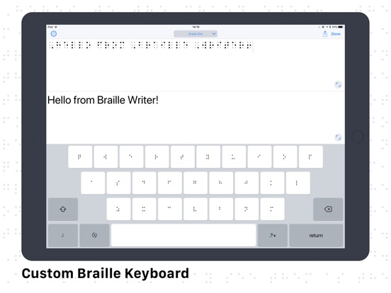 Screenshots for Braille Writer