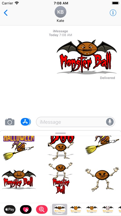 Screenshot of Football Halloween App