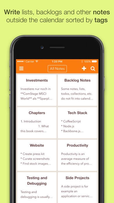 NotePlan: Markdown Todo-List, Notes and Calendar Screenshot 4
