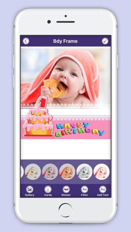 Happie B'day Photo Frame : Birthday Sticker