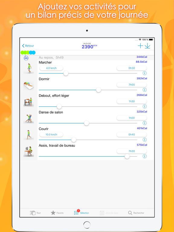 Screenshot #6 pour Calories Minute Access