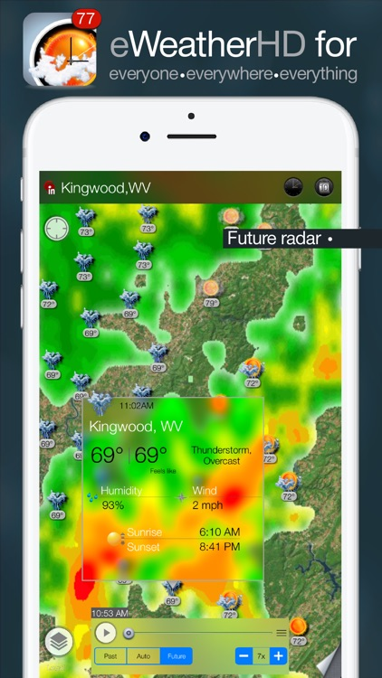 eWeather HD - Weather, Alerts & Future NOAA Radar screenshot-0