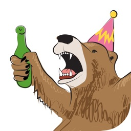 Party Bear Stickers
