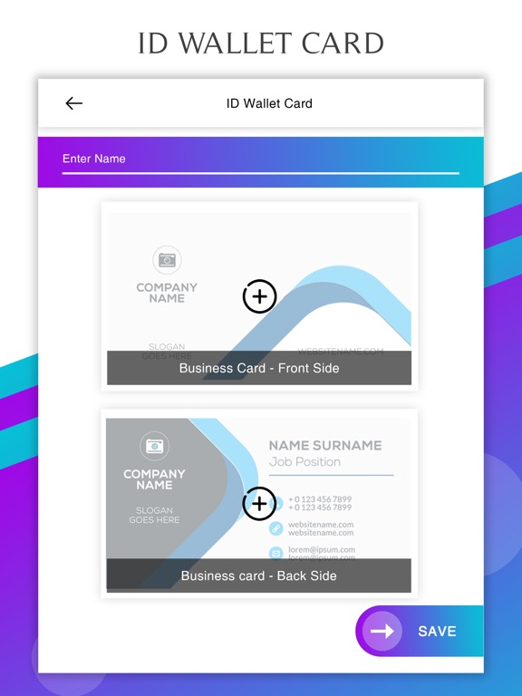 Id proof card mobile wallet app price drops screenshot 2 for id proof card mobile wallet reheart Images