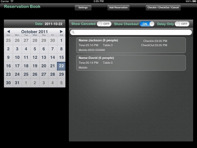 Reservation Book Pro screenshot-2