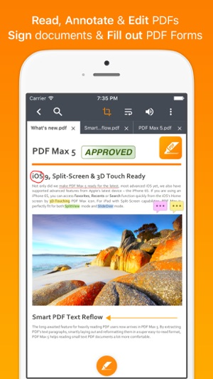 how to download an open pdf on iphone